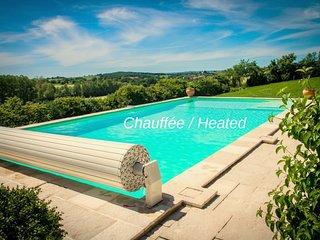La vieille Maison, climatisée, piscine chauffée, à 5 mn d'Albi, 6 personnes.