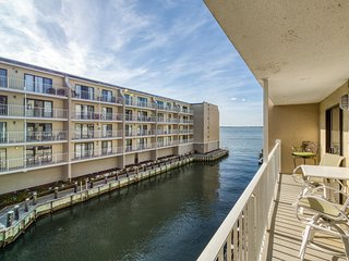 Bayfront Condo w/ Beautiful Views & a Shared Pool - Walk to the Beach & Seacrets