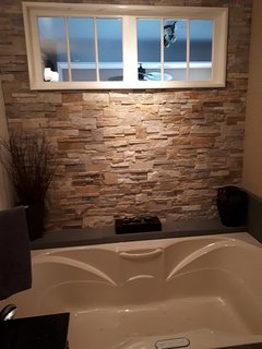 Very large Bathroom with jetted tub