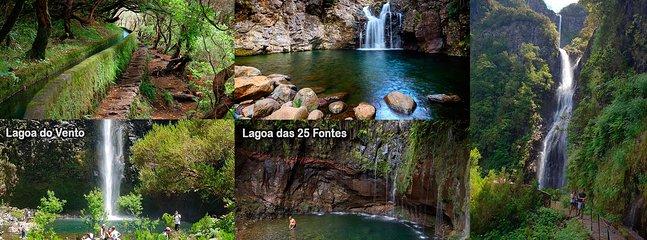 PR 6.1 Levadas das 25 Fontes e do Risco; PR 6.2 Levada do Alecrim; PR 6.3 Vereda da Lagoa do Vento.