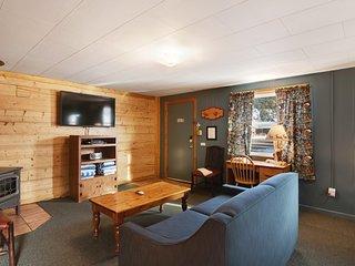 Quaint log cabin w/ shared hot tub & prime hiking/skiing location - dogs OK!