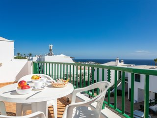 Fantastic ocean view apartment w/ free WiFi, terrace & shared pool!