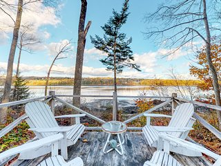Riverfront home w/ deck, amazing views & firepit - near the best of Maine!