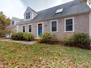 Quaint home w/ large backyard, outdoor shower & private grill near Katama Bay!