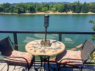 NEW LISTING! Updated, dog-friendly, waterfront home overlooking Blue Lake!