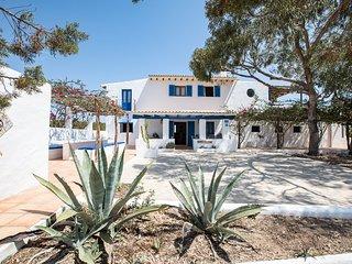 Casa Migjorn 10 pax.Terraza con vistas al mar,barbacoa.