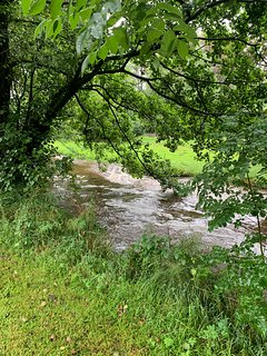 The river in the hamlet of Ford, 1/4 mile along our lane.