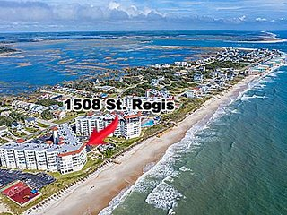 1508 St Regis Resort - 3BR Oceanfront Condo in North Topsail Beach with Tennis C