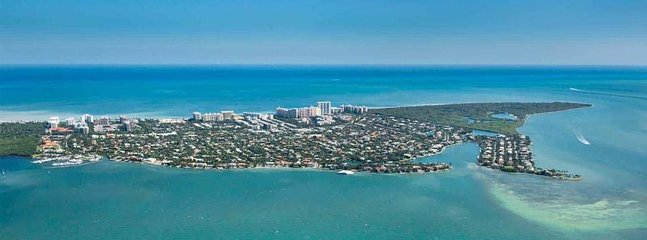 Key Biscayne - the island surrounded by the Atlantic Ocean from one side and Biscayne Bay from the other.