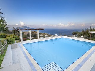 Villa Elia 1 with Private Pool, Sea View, Terraces, Parking and Garden
