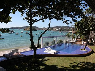 Buz005 - Beautiful mansion in front of the sea in Búzios
