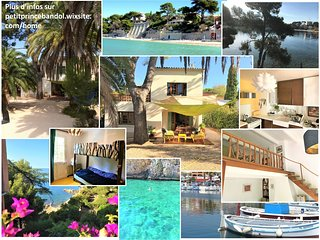 Villa with 2 separated apprts 3* + garden + parking 50m walk from beaches