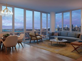 5 mins to Manhattan NYC Amaze City View New High Floor Luxury Living Room Sofa