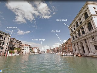 GRITTI • 6 WINDOWS! RIALTO GRAND CANAL PANORAMA VIEW, Aircond, Wifi