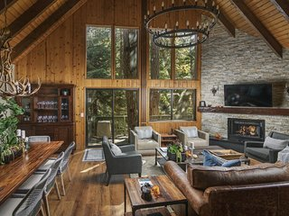 Treetop Cabin | Modern Luxe, 2 Level, 1,700 sqft, Deck, Treetop View, In Village