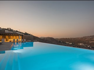 BlueVillas | Villa Psarou Delight | Infinity pool right above Psarou Beach
