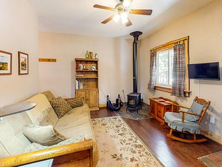 Quaint & cozy mountain studio w/ wood stove & shared grill/firepit!
