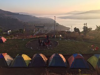 Camping at Panshet Dam