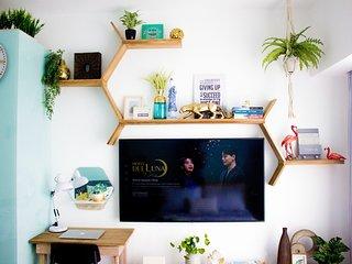 Light & Airy 1BR Apartment with NETFLIX, PRIME VIDEOS & PLEX