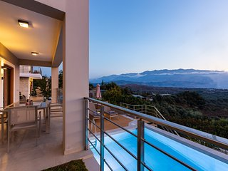 Upper view villa1 with luxury design, pool, serenity, sleeps 7