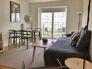 Modern One-bedroom Apartment with a Balcony in Copenhagen Orestad