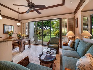 Upgraded Condo w/Lanai to Lawn, Modern Kitchen+Bath, WiFi–Kiahuna Plantation