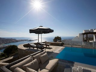 Psarrou villa for 10 guests, stunning sea views