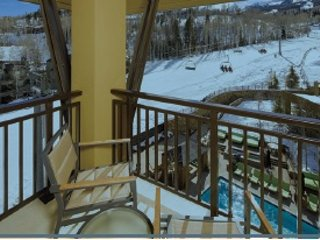 View of Corner Porch Space with View of Slopes