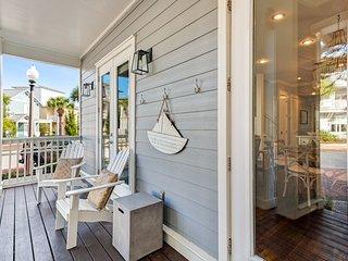 Stunning beach house w/shared pool, large deck w/views - walk to the beach!