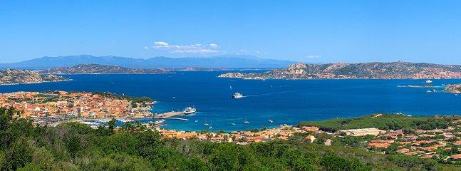 Panorama of palau and the Maddalena archipelago