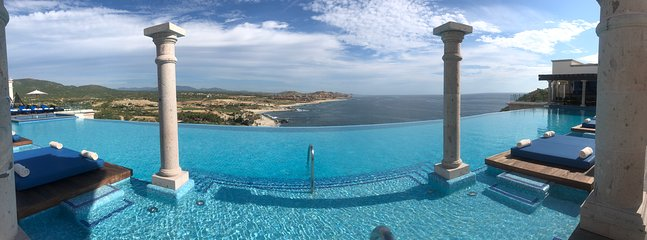 Gorgeous views from rooftop infinity pool and jacuzzis
