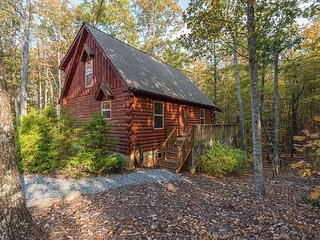 Nestled in the Woods | Log Cabin privately located in the woods | Easy access