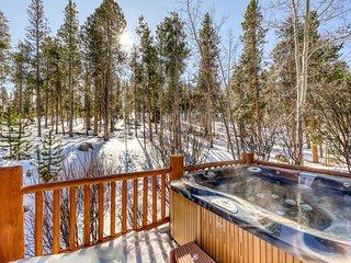 Hilltop home w/ private hot tub, majestic views & 2 separate living areas!
