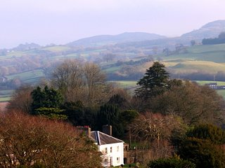 View of BaysHill House with Black Mountains behind