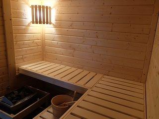 Ferienhaus am Wald mit Sauna