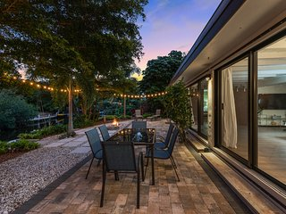 Contemporary, waterfront home w/ a furnished patio & easy Gulf access