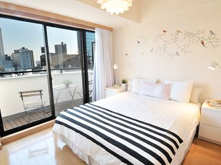 SHIBUYA QUEEN BED + BRIGHT ROOM + BICYCLES + Pocket WiFi