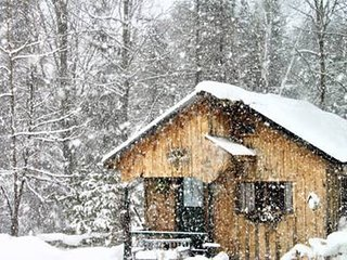 Fireplace-Wifi-Kitchen-Cozy and Private Vermont Winter wonderland Cottage