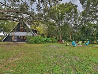 NEW! Chic A-Frame Escape On Lush, Private Property