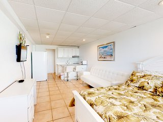 Beachfront efficiency with a shared pool and easy beach access!