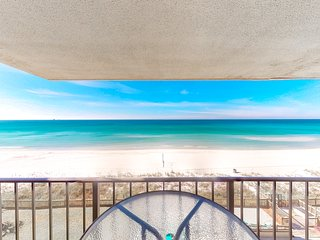 Beachfront condo with shared pool, amazing view, and beach access!