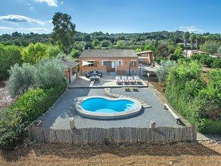 Paraiso rural en Villa Son Garreta, bonita piscina con Vistas a la montana