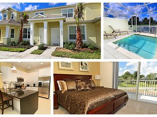 ☀ Stunning 8 Guest Town Home | 10 Mins From Disney | Balcony, Pool & Gym