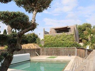 la poussada, le cube vue mer, piscine, construction écologique