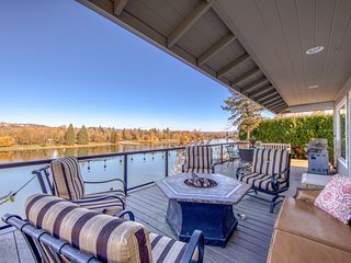 NEW LISTING! Updated waterfront home overlooking Blue Lake!