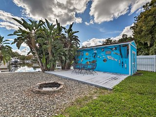 NEW! Colorful Canalfront Home w/ Boat Dock & Yard!
