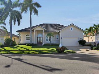 Inviting waterfront home w/ pool, hot tub & walk to Tigertail Beach