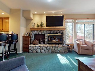 Steps to the slopes w/ 2 full bedrooms, in unit laundry & underground parking