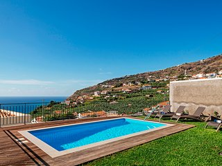 New contemporary villa in Calheta, stunning views, heated pool | Amaro Sunset