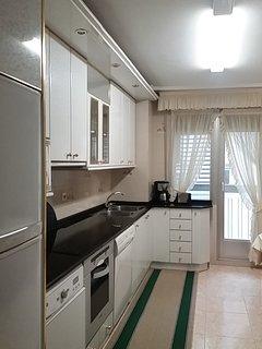 Cocina con terraza